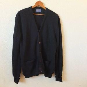 60's Vintage Pendleton Men's Large Black Cardigan
